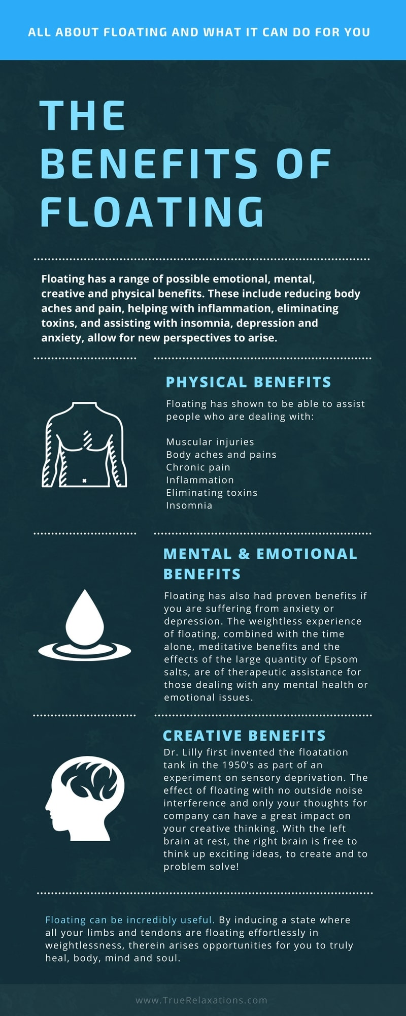 the benefits of floating (physical, mental, emotional and creative)
