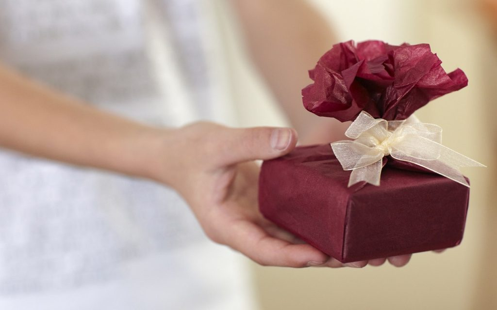 A Red Gift Given to the Parents of Your Boyfriend