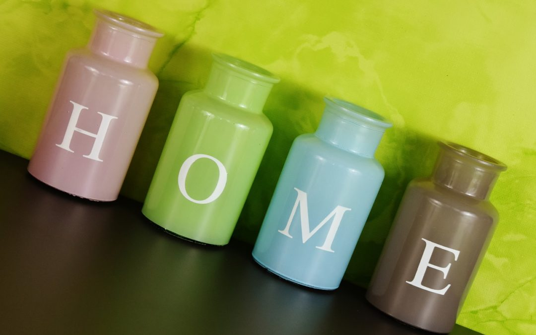Colours in bottle home decorating