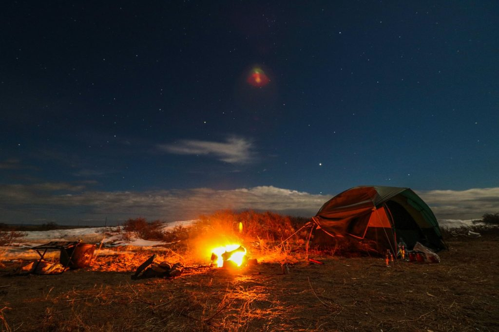 Tent Camping Fire