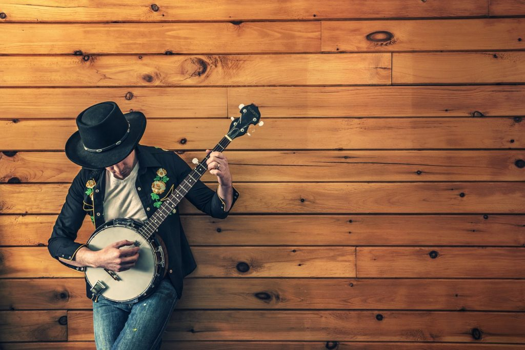 musician playing instrument banjo (anxiety)