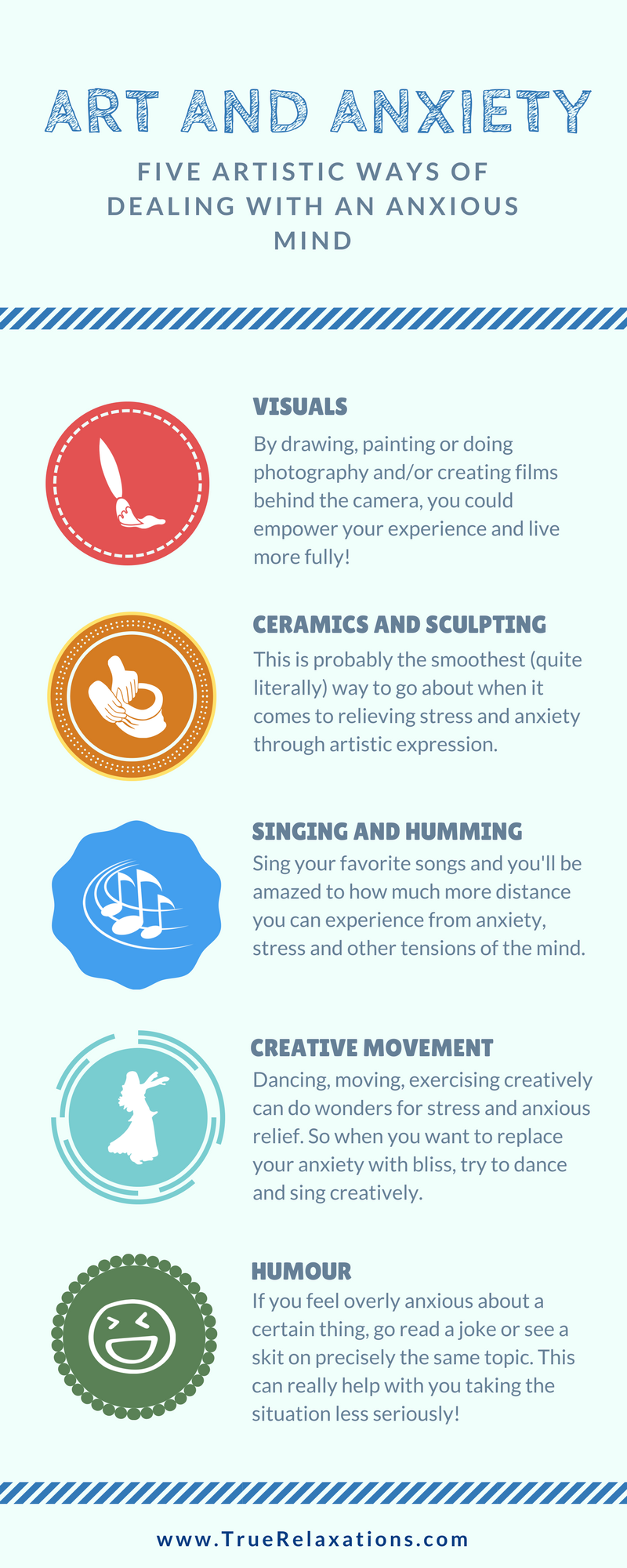 Five Artistic Ways of Dealing with an Anxious Mind