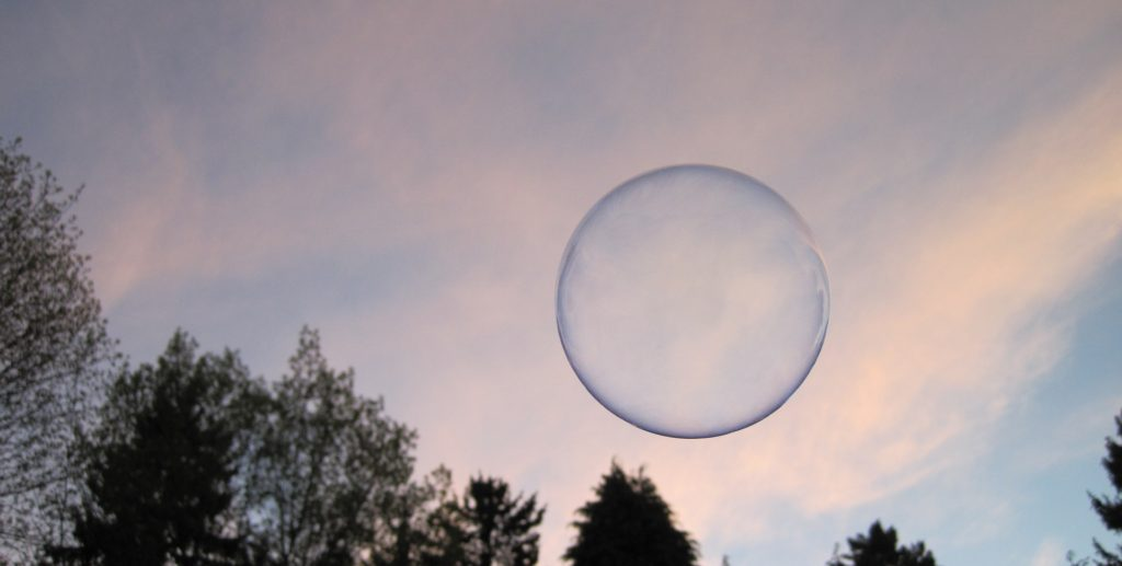A Soap Bubble Floating Weightlessly