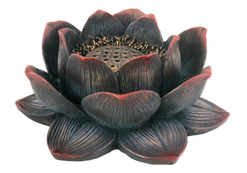 buddha meditation lotus flower incense holder
