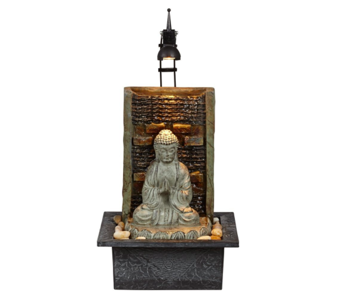 buddha namaste table fountain indoors