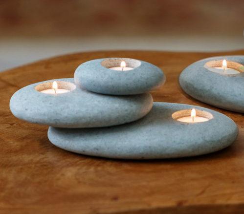 cairn tealight holder zen