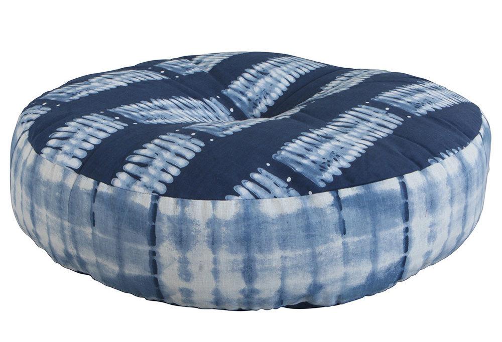 indigo meditation cushion