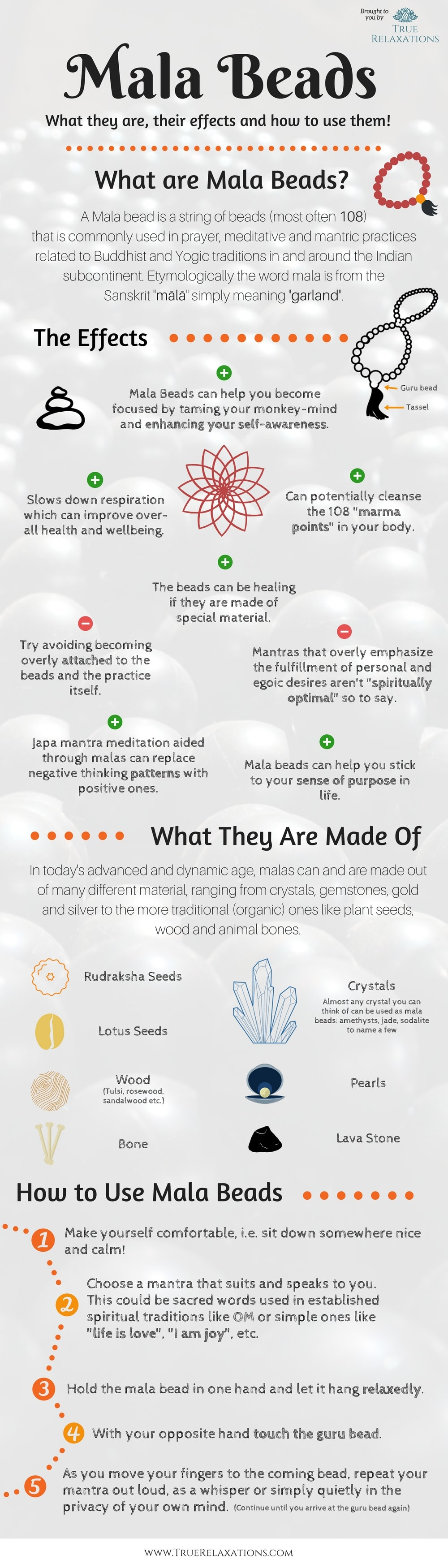 Mala beads benefits and material and how to use them