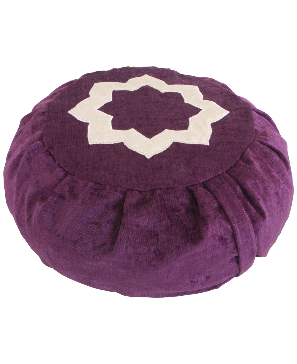 purple lotus meditation cushion