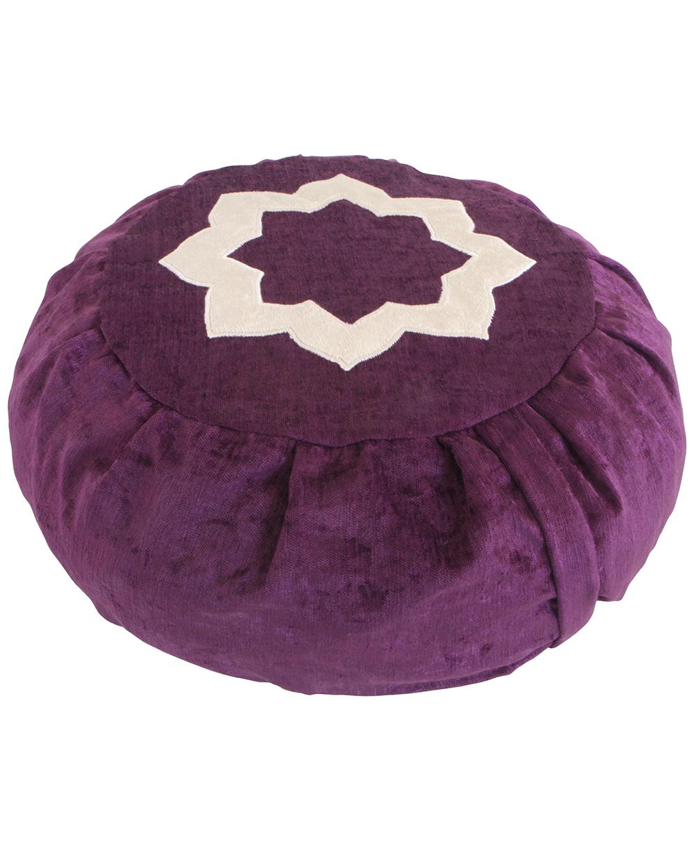 purple lotus meditation cushion