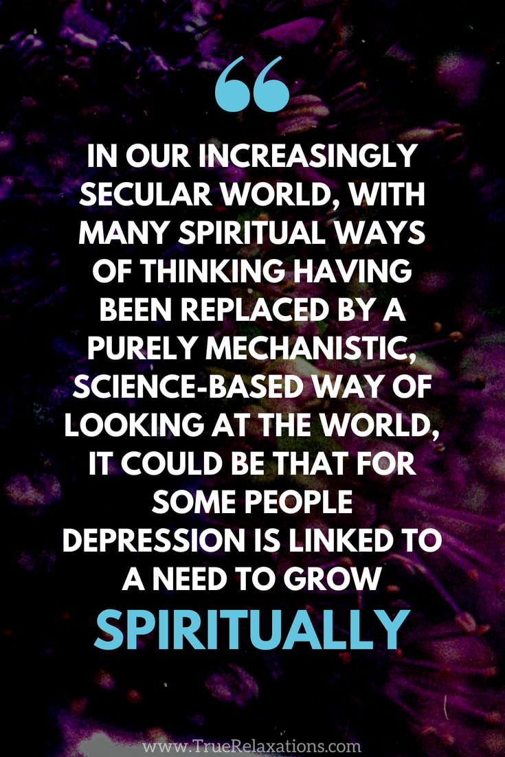 Growing spiritually as a way of relieving depression