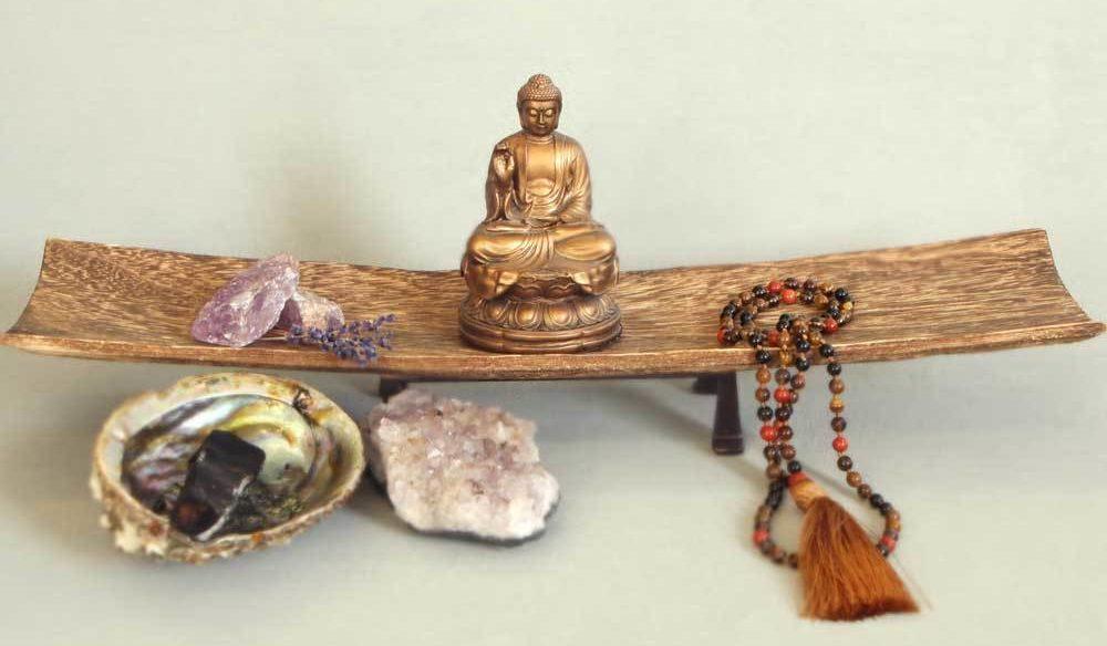 Buddhist meditation altar