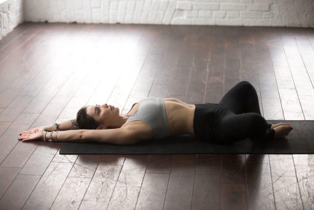 Nighttime goddess yoga stretch