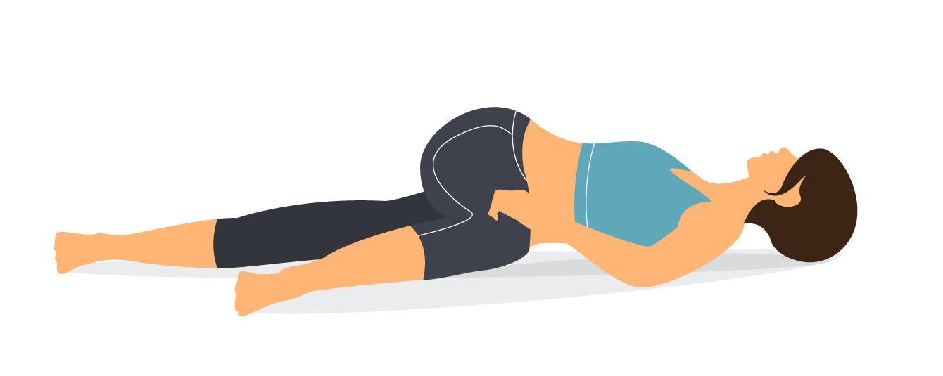 Reclining twist yoga pose
