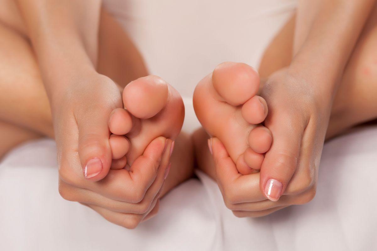 Foot self massage