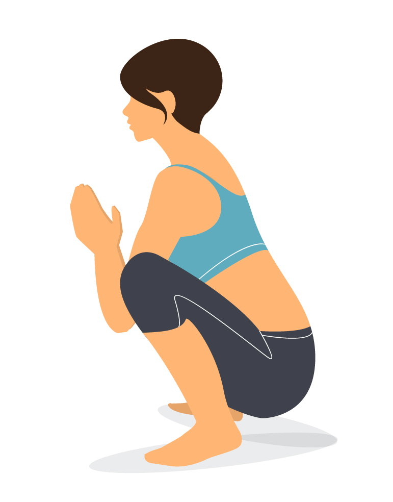 squat pose yoga