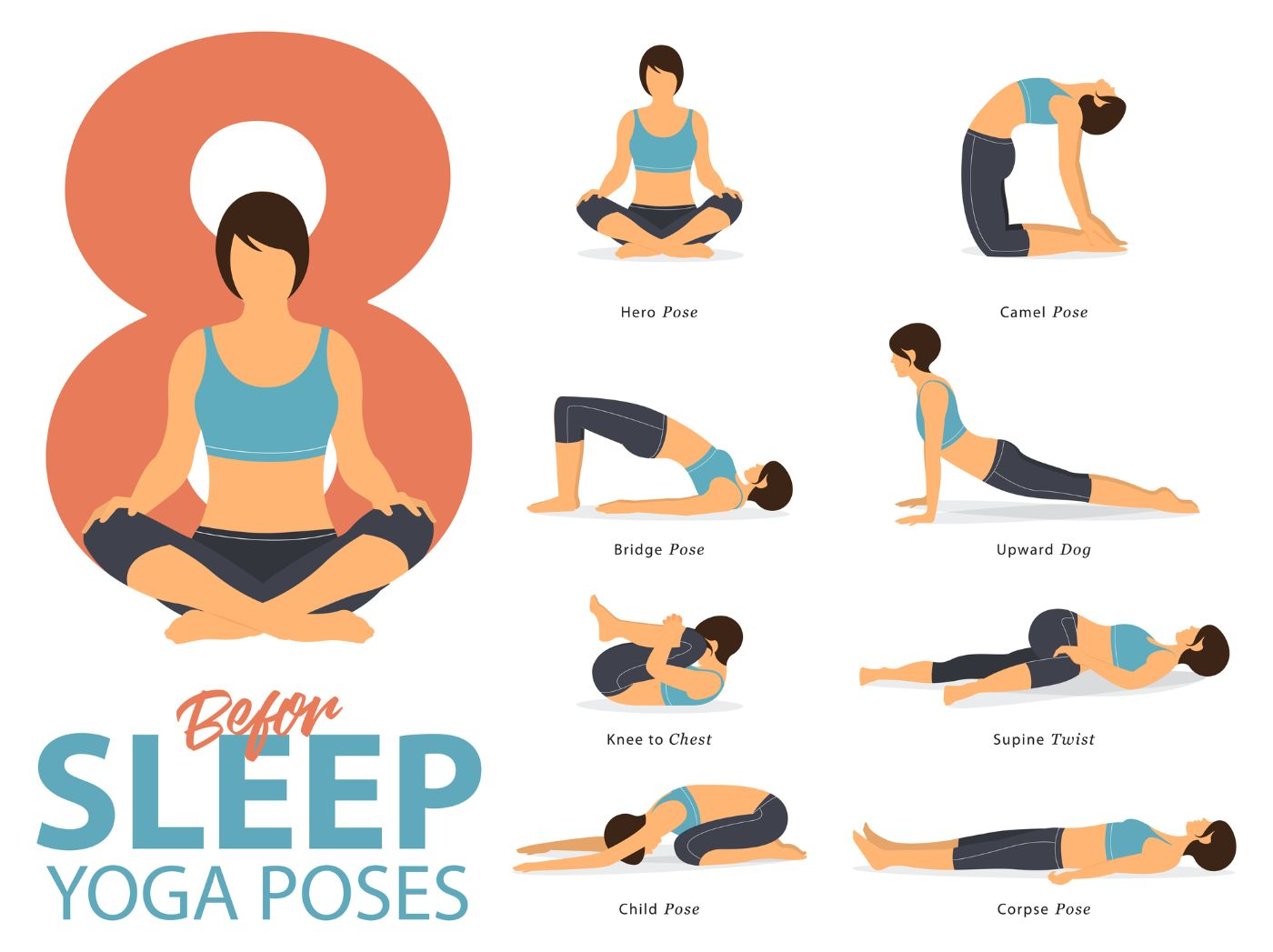 Yoga poses before sleep