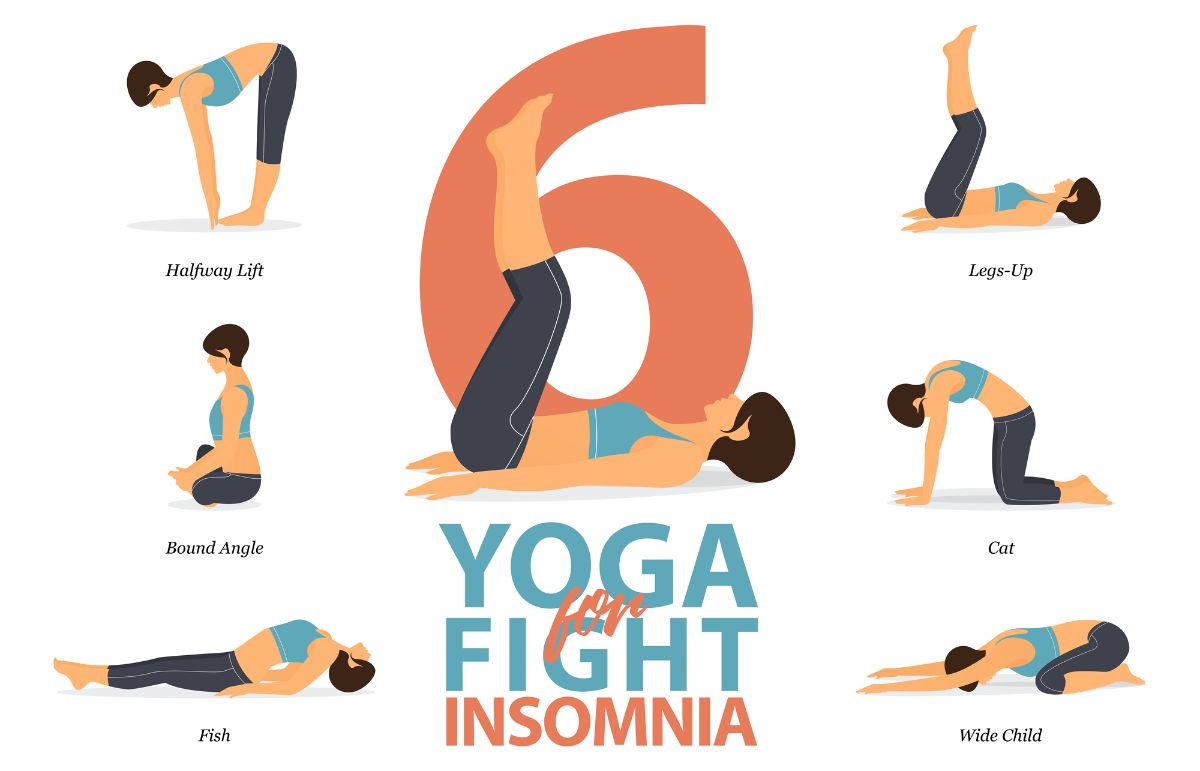 Yoga poses to fight insomnia