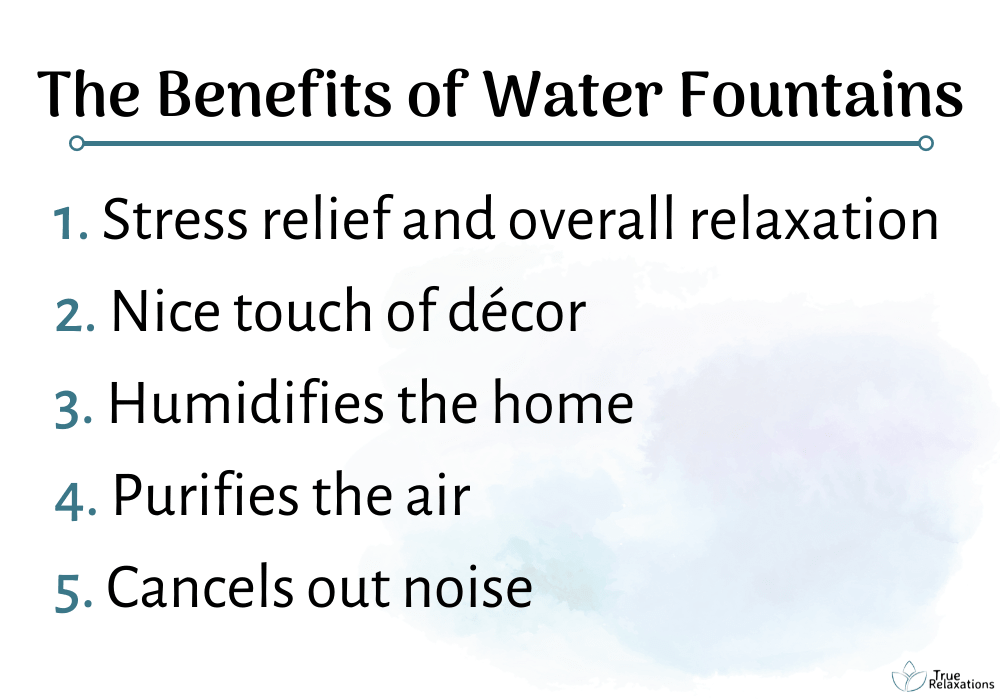 water fountain benefits