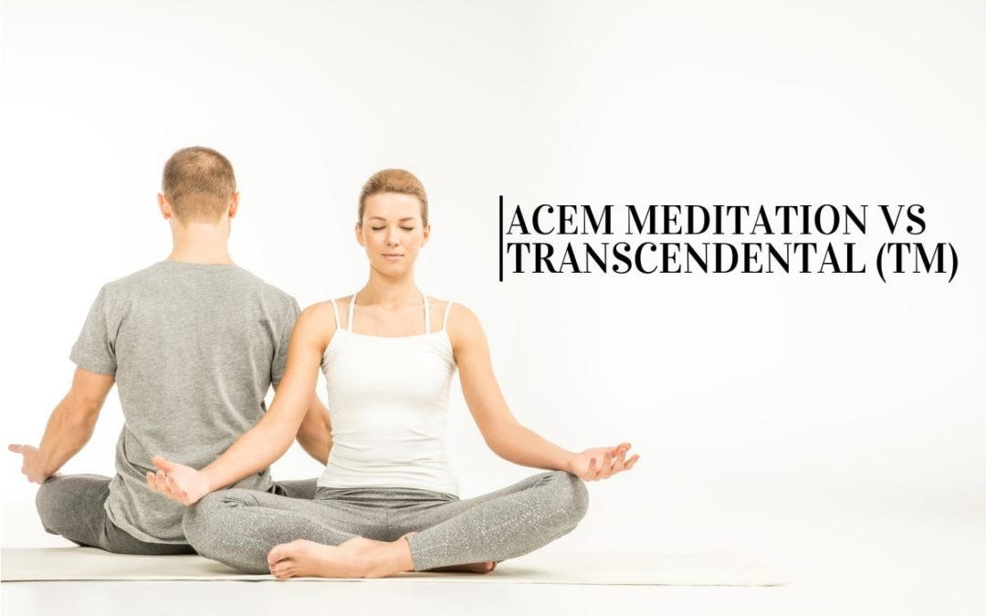 man and woman meditating (acem vs TM)