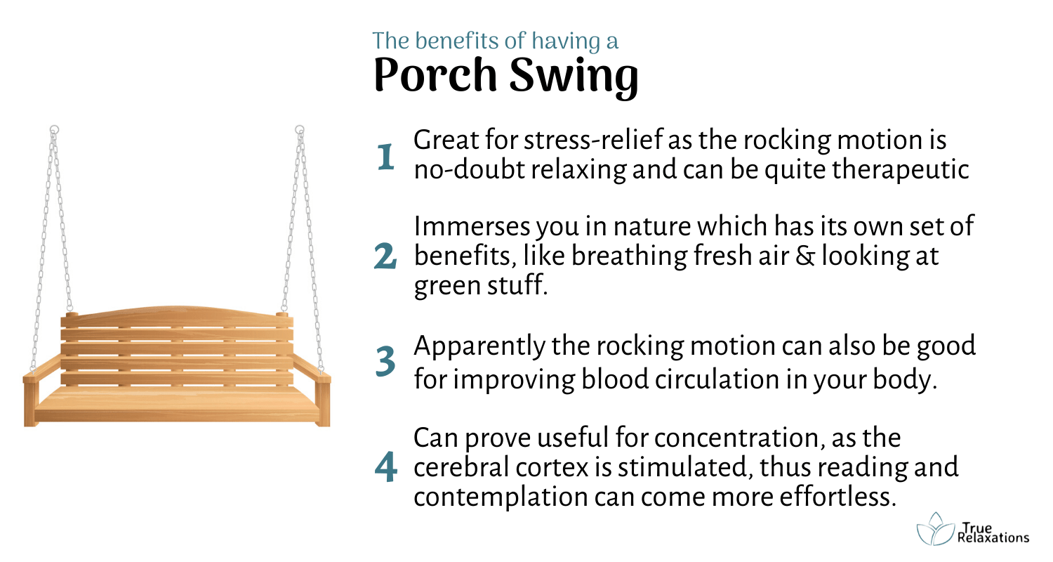 benefits of having a porch swing