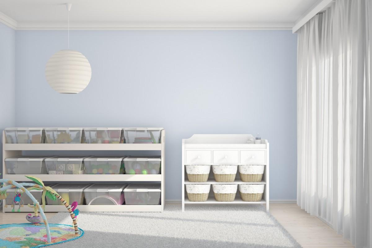 Childrens room designated bins