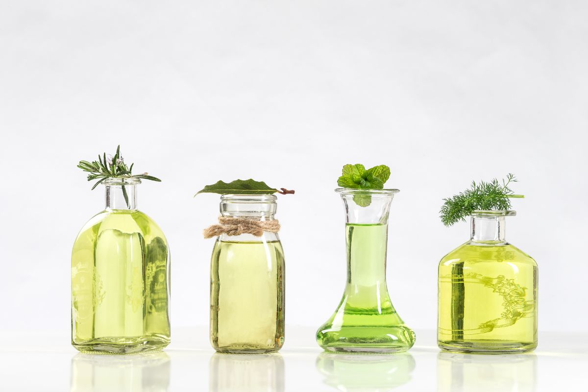 Essential oils 4 different bottles