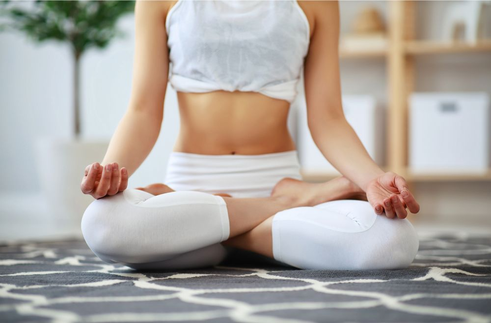 Lotus position woman