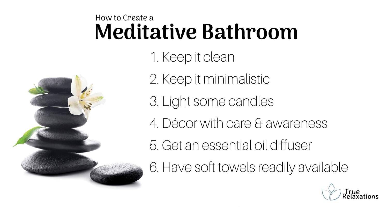 How to create a meditative bathroom tips