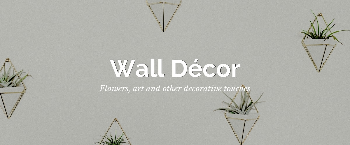 Wall decor hanging flowers