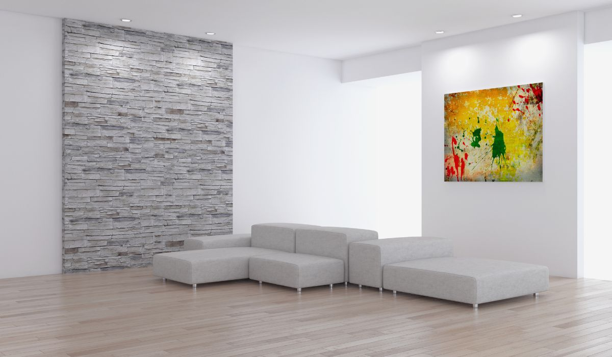 Accent wall home decor + painting