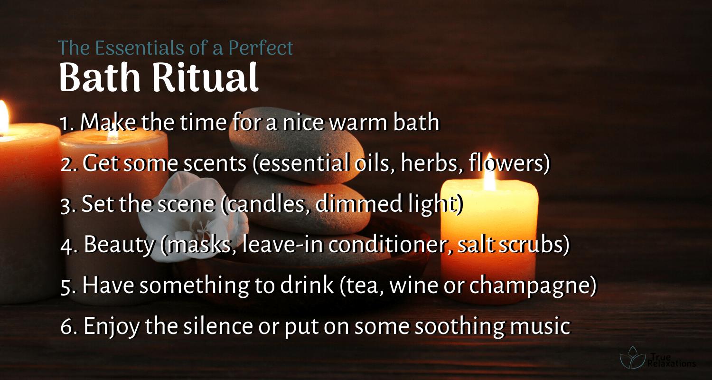 The essentials of a perfect bath ritual