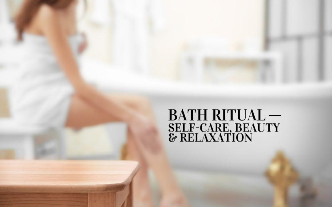 Woman in bathroom (bath-ritual for beauty)