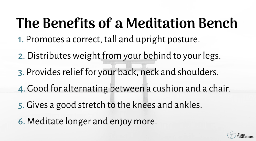 Benefits of meditation bench