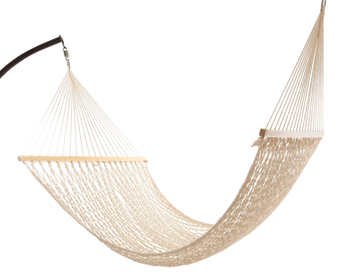 Comfortable hammock on white background