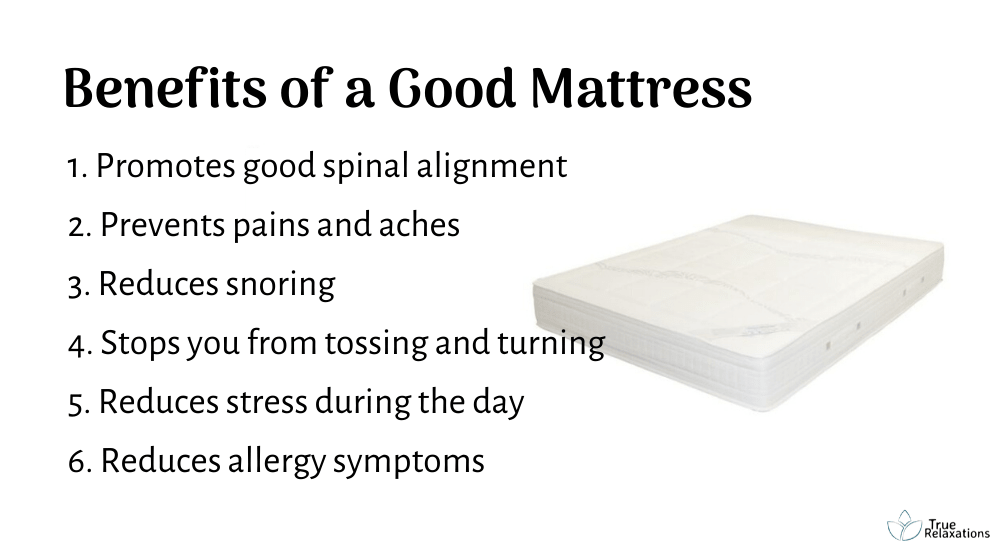6 Benefits of a good mattress
