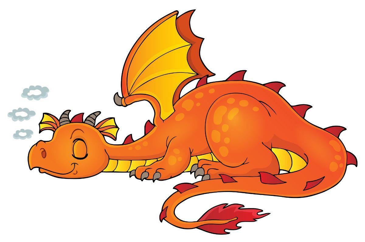 Sleeping dragon cartoon