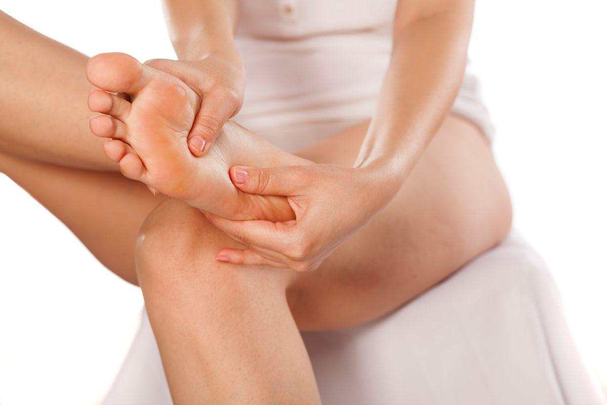 Foot massage woman
