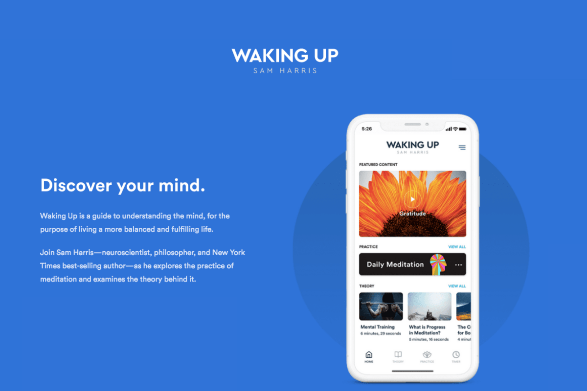 waking up meditation app