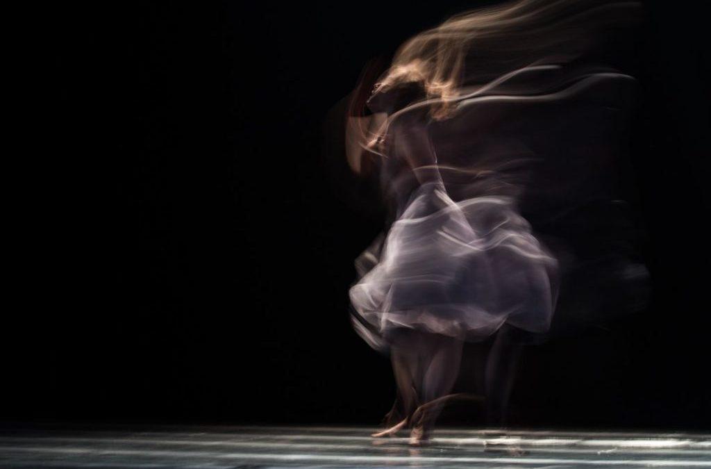 Woman dancing blurry
