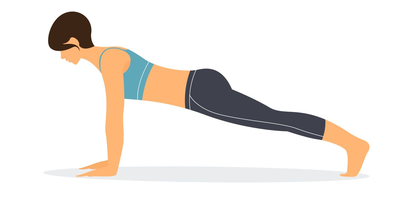 full plank yoga pose