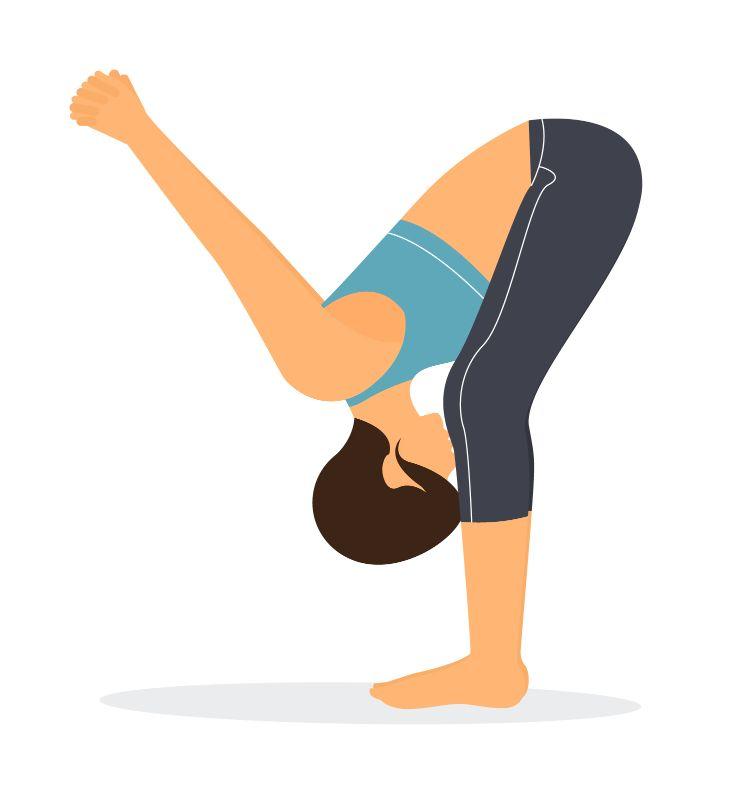 standing forward bend shoulders variation yoga pose