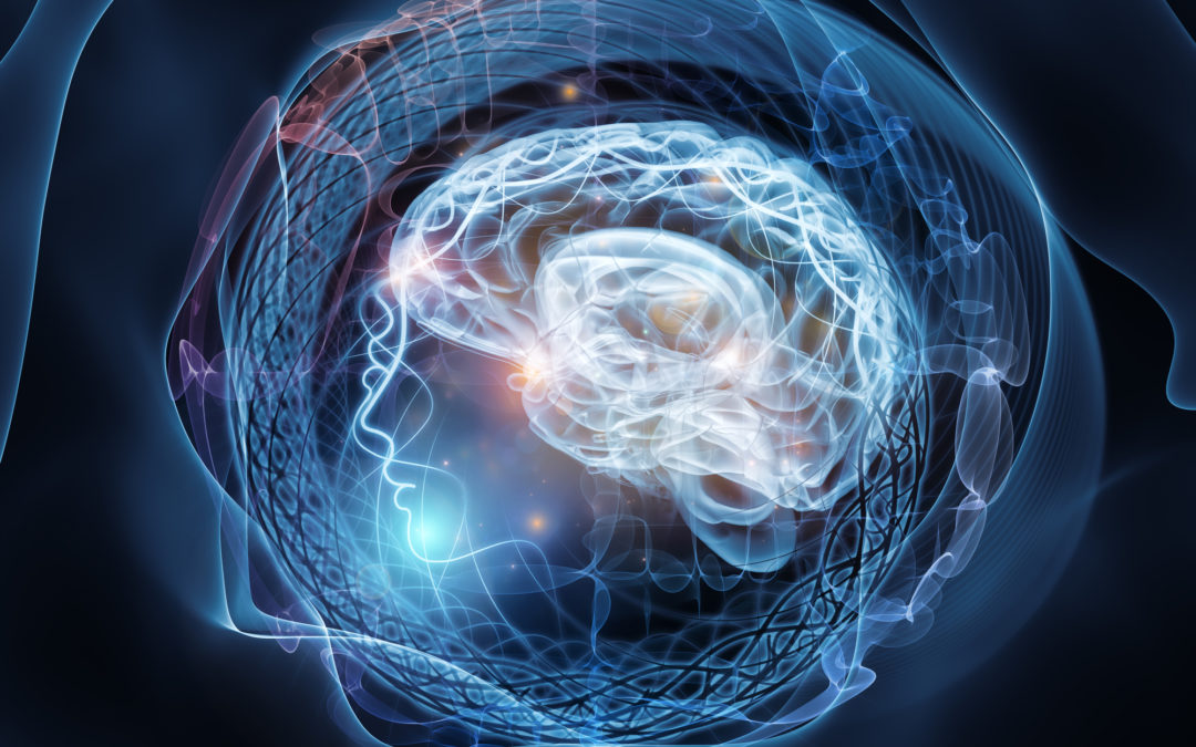 Human Mind series. Abstract design made of brain, human outlines and fractal elements on the subject of technology, science, education and human mind