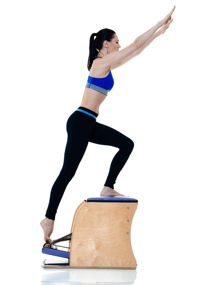 Woman wunda chair pilates