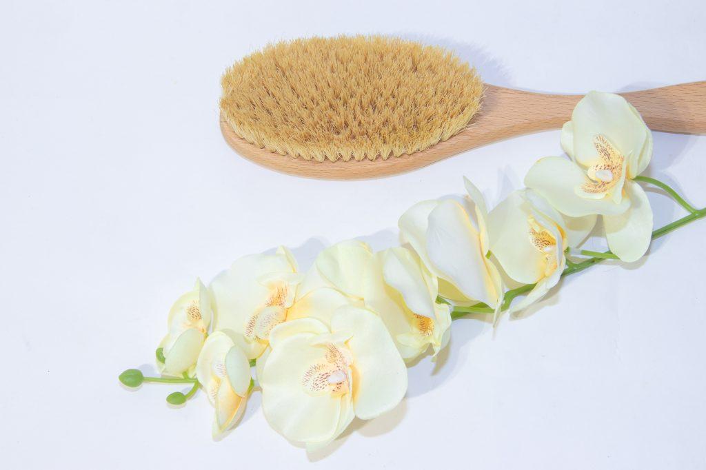 Brush for dry massage